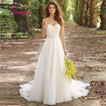 Vestido De Noiva 2017 Robe De Maria New White/Ivory Louisvuigon Chiffon Embroidery Beach A-Line Wedding Dress 2017 Wedding Gowns