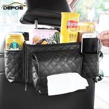 Multifunction car seat storage bag Tissue Paper Box Holder car seat back bag Car product vehicle car storage box freeshipping