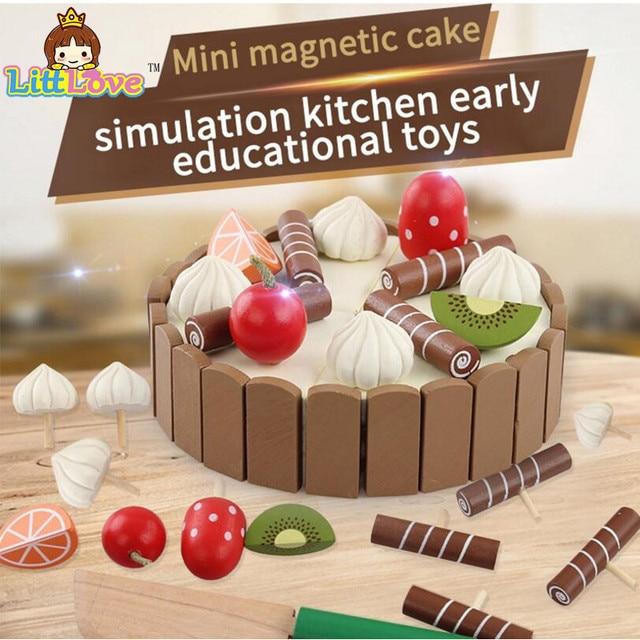 Littlove bebé de madera Juguetes de cocina Juegos de imaginación ...