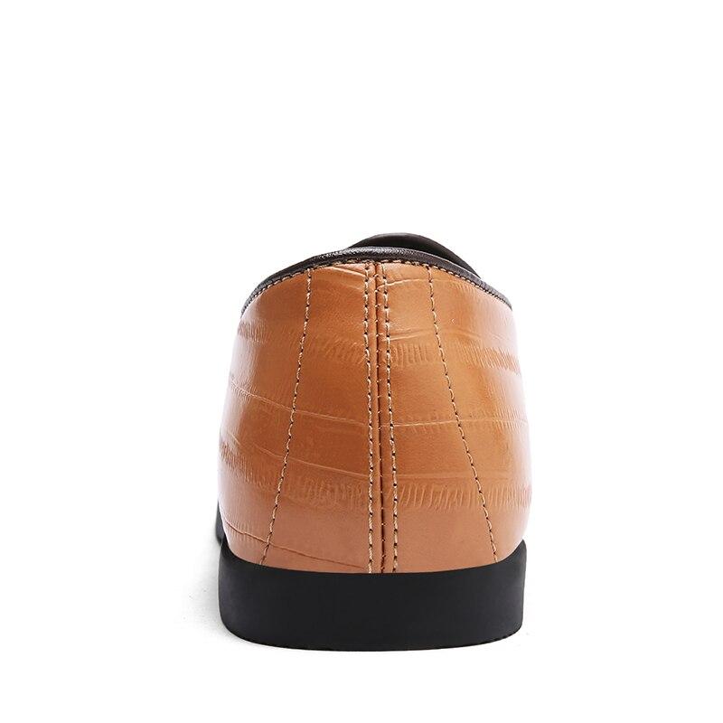 Sobre Deslizar Mocassins Borla Para De Brown Mens Casuais Designer Brown Dividir Sapatos black Homens Apartamentos Italiano Agsan Os Vestido Couro Aq0FI8w