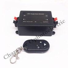 купить 5pcs 3 Key RF Remote Control Wireless LED Single Color Dimmer Switch Controller 12V 24V DC 8A по цене 1200.47 рублей