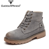 CuddlyIIPanda 2018 Spring Autumn Cow Suede Chelsea Boots Rivet Vintage Women Ankle Boots Top Quality Nubuck