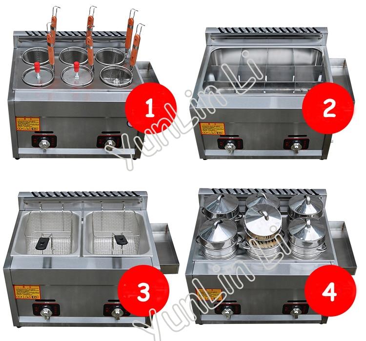 купить Double Cylinder Gas Fryer Two Tanks Gas Frying Machine Energy Saving Fryer Stainless Steel French Fries Machine JX-11 по цене 5769.16 рублей