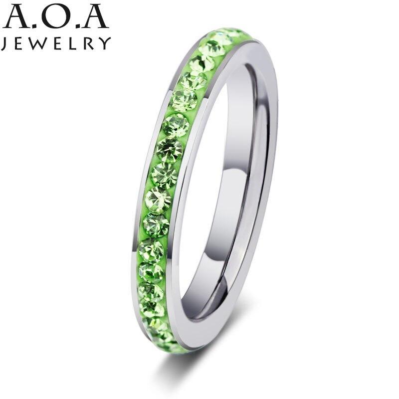 Одежда высшего качества 316L Нержавеющаясталь 5 цветов Кристалл кольцо Мода прополка CZ кристалл кольцо для Для женщин подарок