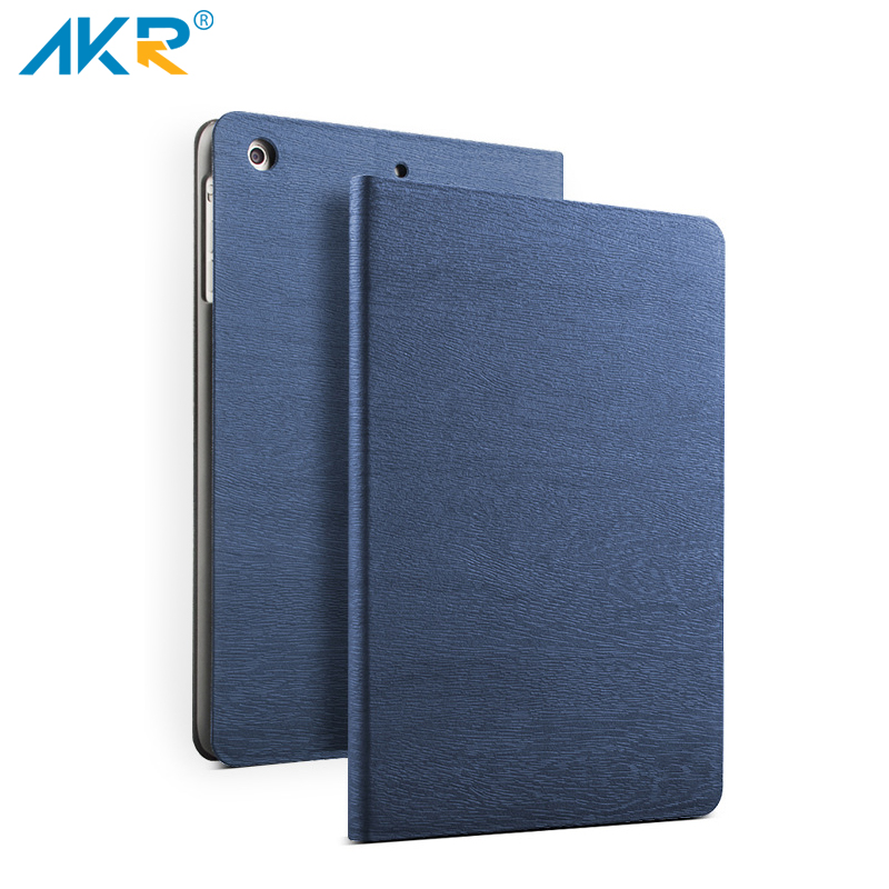 AKR PU Leather Stand Case for iPad mini 4 case smart cover Sleep Wake Up Wood Grain+protector film kisscase for apple ipad mini 4 cover case wake up smart sleep magnetic flip cover ultra slim pu leather covers for ipad mini 4