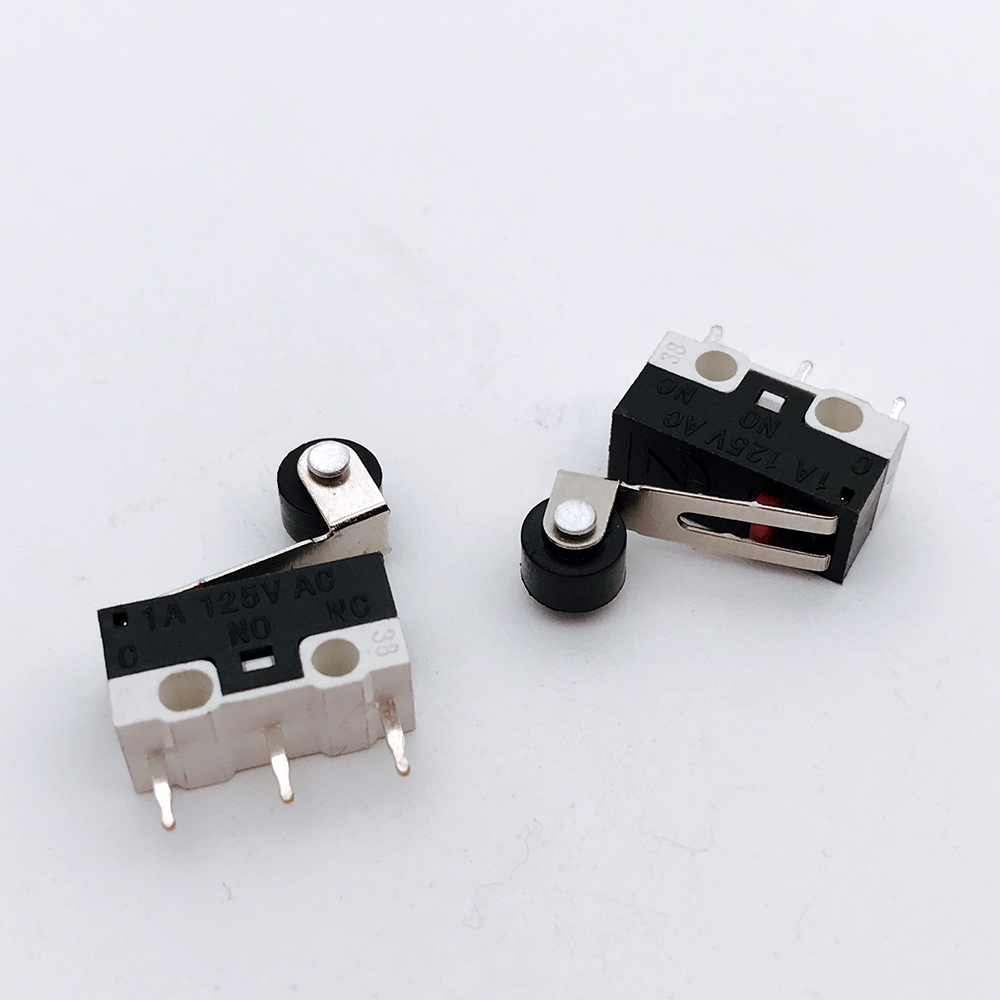 100pcs 1A 125VAC Mini Micro Switch Roller Lever Actuator Microswitch SPDT Sub Miniature Accessories 10pcs long straight hinge lever spdt micro limit switch v 153 1c25