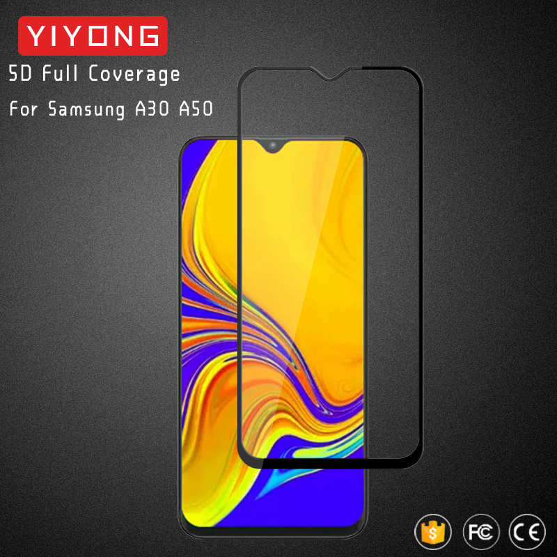 25Pcs/Lot YIYONG 5D Glass For Samsung Galaxy A30 A50 A70 A90 Tempered Glass Screen Protector For Samsung A10 A20 E A40 A60 A80-in Phone Screen Protectors from Cellphones & Telecommunications    1