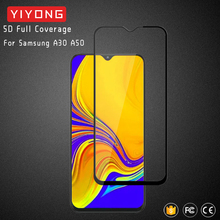 25Pcs/Lot YIYONG 5D Glass For Samsung Galaxy A30 A50 A70 A90 Tempered Glass Screen Protector For Samsung A10 A20 E A40 A60 A80