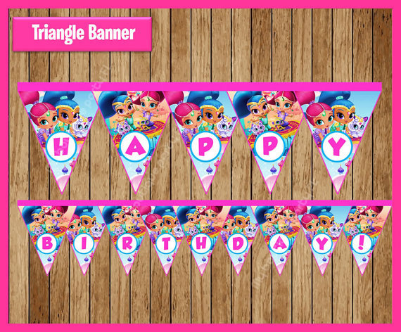 Shimmer And Shine Banner Baby Shower Birthday Party Decorations Kids
