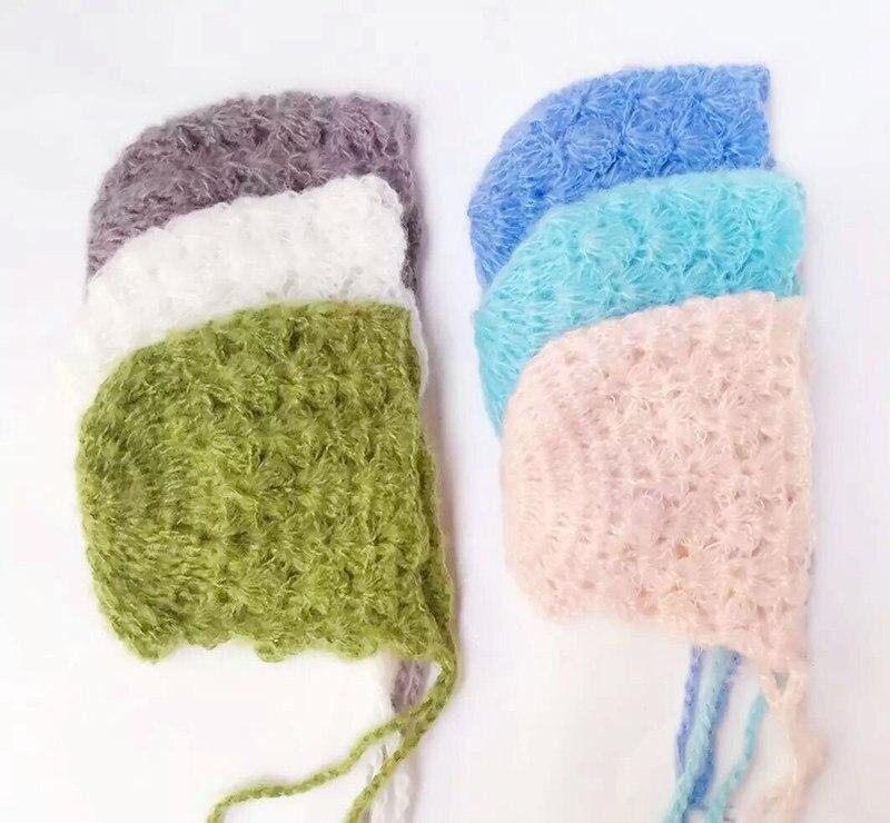 Mohair Baby Hat Newborn Photography Crochet Cap Baby Accessories ...