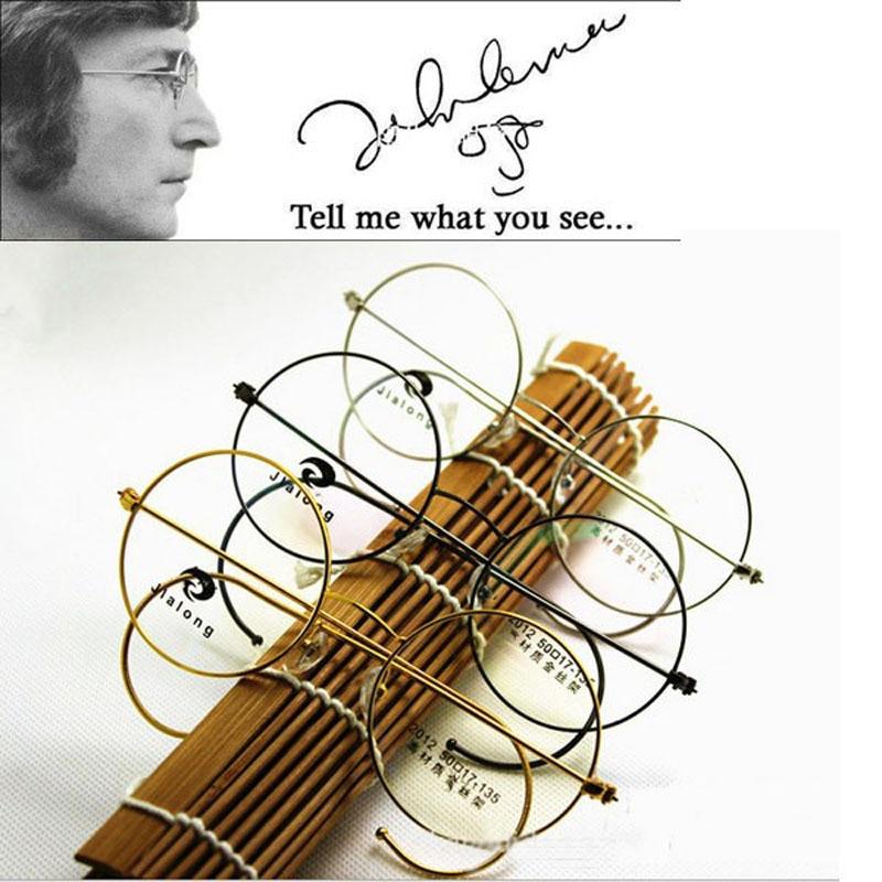 ღ ღSHAUNA Retro Round Glasses Frame Vintage Fullrim John Lennon ...