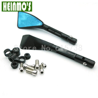 8MM 10MM Triangle Motorcycle Rear Side Mirrors Black Color Universal For Street Bikes Sport Bike