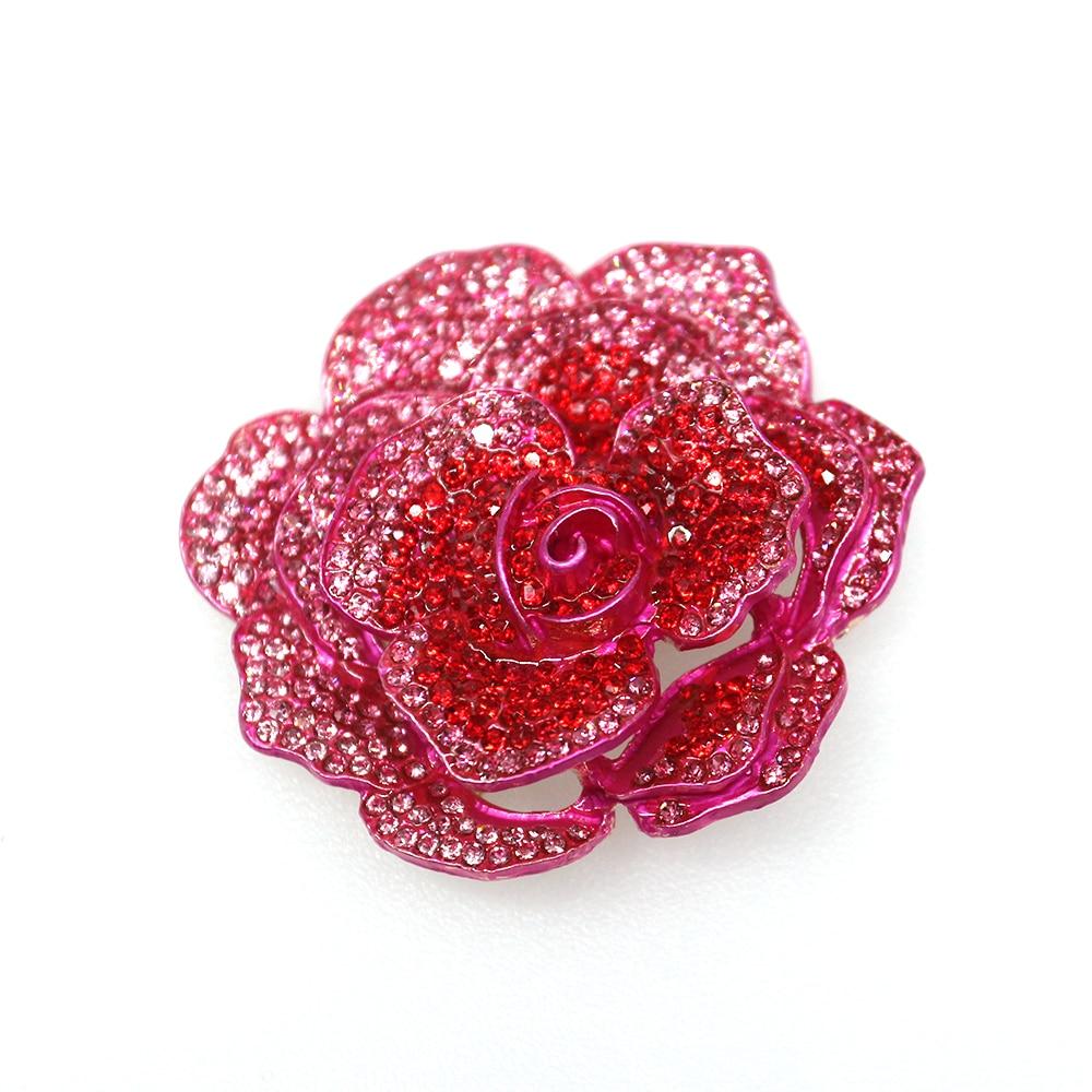 50pcs or 100pcs New fashion brooch 50mm pink rose brooch rose red rose brooch