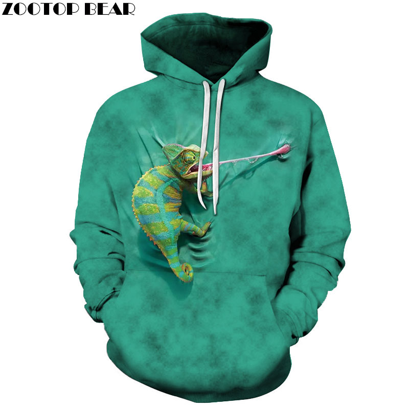 Funny Sweatshirts Men Hoodies Animal Tracksuits 3D Printing Pullover Hooded Coat Anime Clothes Streetwear Drop Ship ZOOTOP BEAR