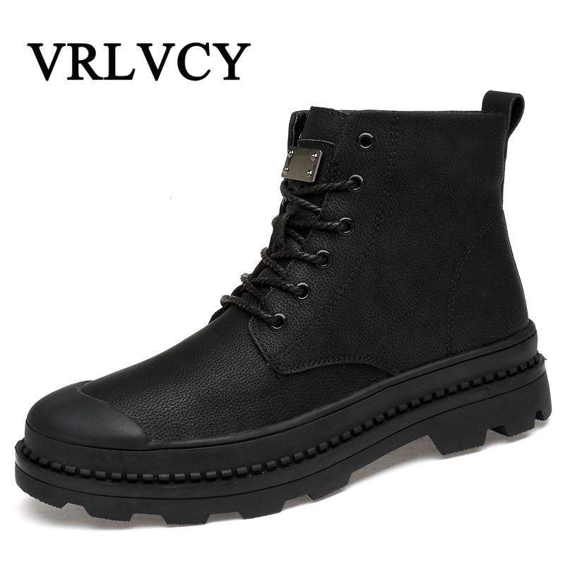 176c77eac0797e Bottes Travail Hommes Cheville Cuir Neige En Mâle Chaussures Hiver  Caoutchouc 46 Pour D'hiver Casual ...