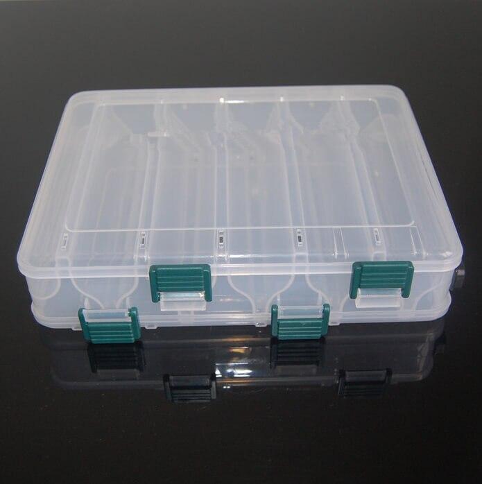 Kunststoff Karpfen Angeln Locken Box Doppel Seite 10 Slot Fly Fishing Tackle Box Fall Perfekt für fly salzwasser süßwasser Angeln