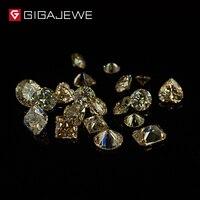 Gigajewe 4ct Moissanite камни желтый Цвет Бусины делает браслет ожерелье для Ювелирные украшения