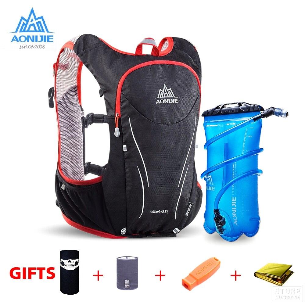 AONIJIE Extérieur Sport Trail Running Sac À Dos 5L Marathon Hydratation Gilet Pack Pour 1.5L Sac D'eau Super Light Vélo Randonnée Sac