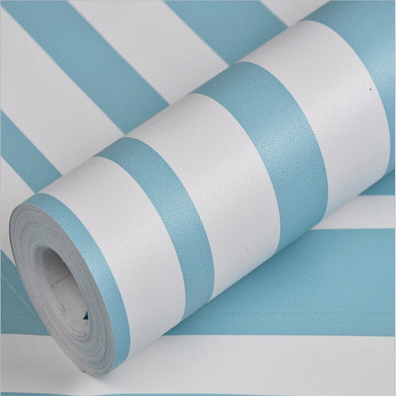 beibehang Self adhesive vertical stripes wallpaper Mediterranean curve background Dormitory back ripped stickers wallpaper