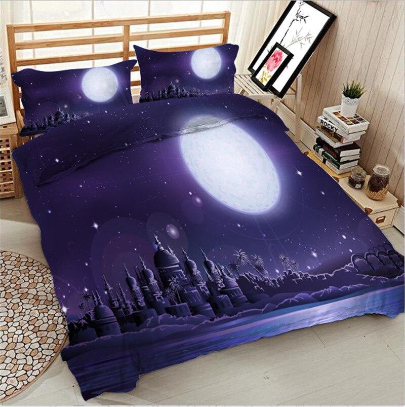 3D лунный замок постельное белье простынь Набор Постельное белье супер ковровое покрытие наборы для ухода за кожей