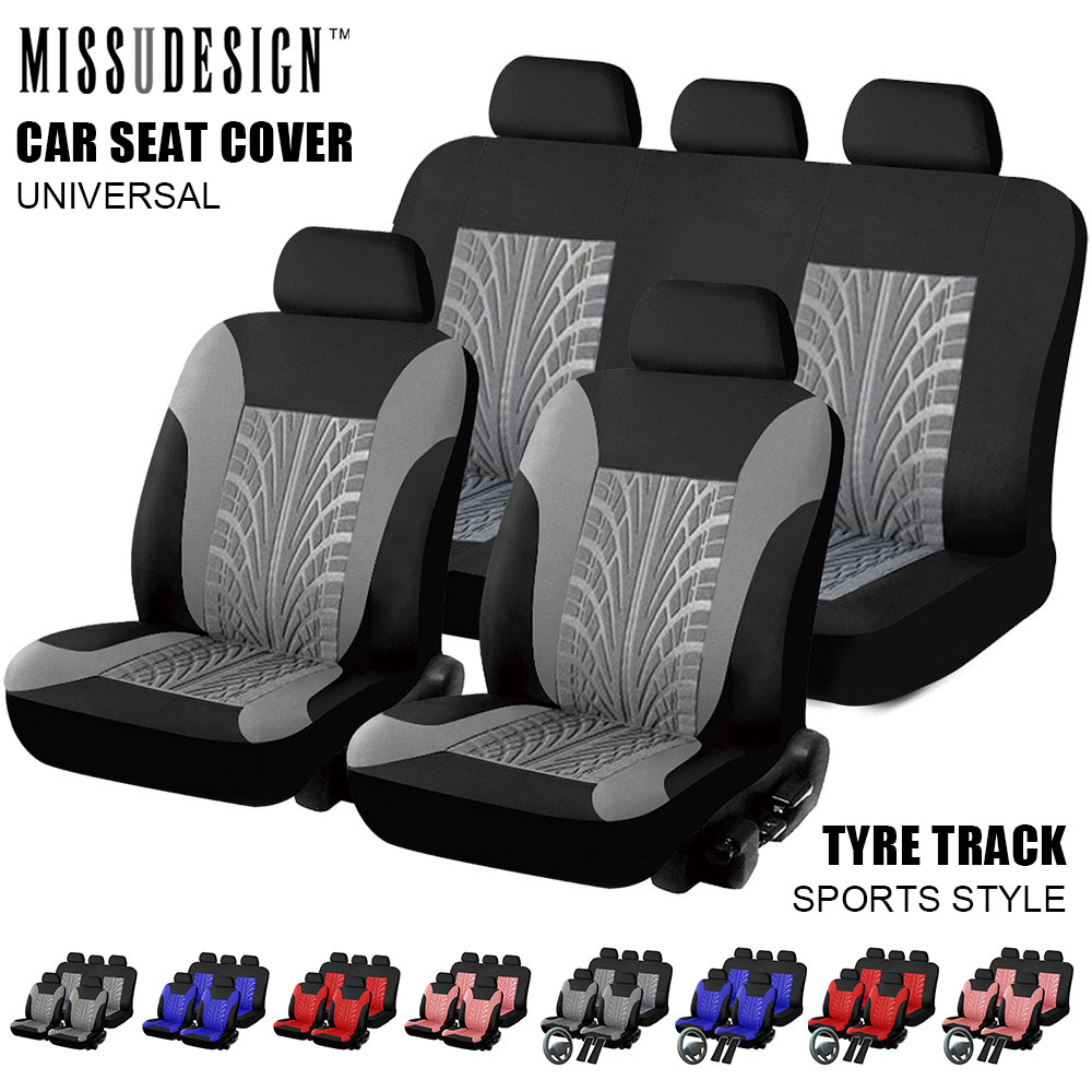 Universal Fashion Styling Full Set And 2 Front Seats Car Seat Protector Auto Interior Accessories Automobile Car Seat Cover(China)