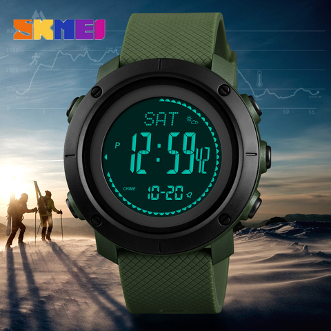 SKMEI Brand Mens Sports Watches Altimeter Barometer Compass Thermometer Weather Men Watch Pedometer Calories Digital Watch Women Pakistan