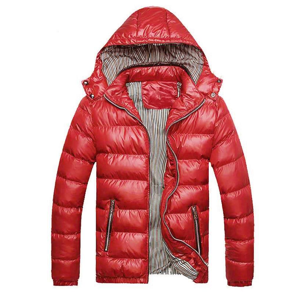 Winter Jacket Men 2019 Men's Winter Hat Removable Cotton Jacket Thickening Warm Cotton Padded Coat Man Winter Coat