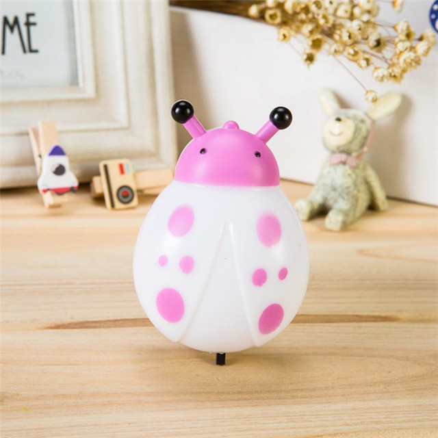 Cute colored Ladybug LED Night Light Lamp For Home Decoration Children Gift