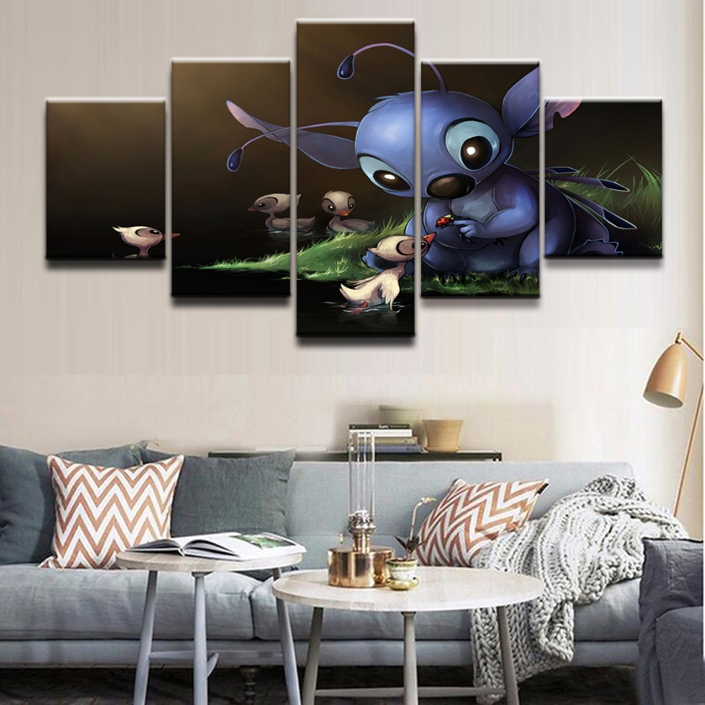 Home Decorative Living Room Hd Printed Pictures 5 Pieces