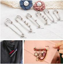 10pcs/lot DIY handmade sweater with scarf brooch pin buckle simple large jewelry materials accessories