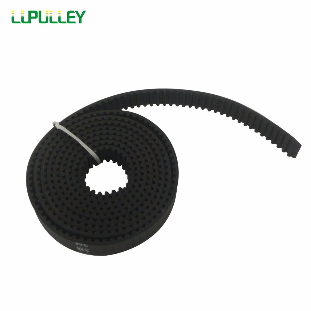 LUPULLEY 3M-15mm Open Timing Belt 1M/2M/3M/4M/5M/6M/7M/8M/9M/10M Pitch Length 15mm Width 3M Black Open Timing Belt 20 24 40 teeth htd3m timing pulleys 15mm width 267mm length closed timing belts and 10m open timing belt
