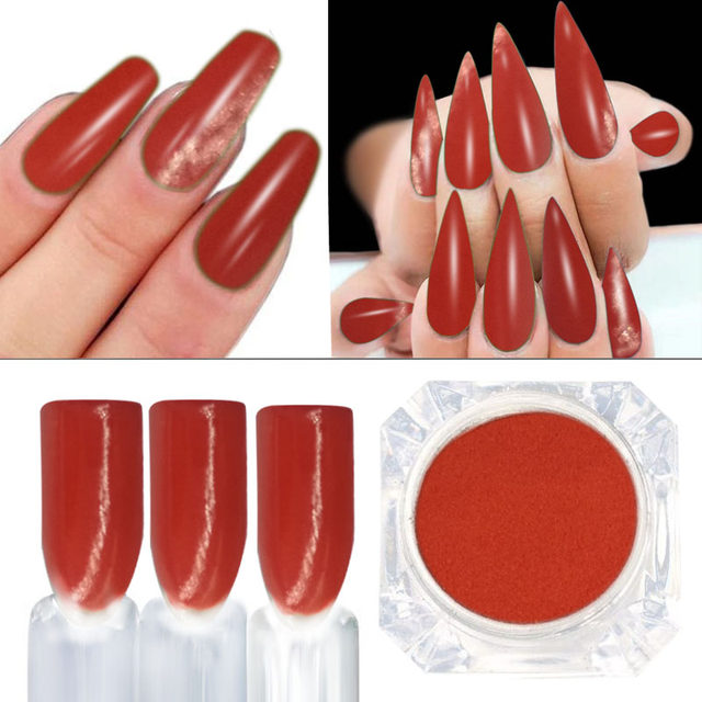 Online Shop 2gbox Red Dipping Powder Effect Nail Design Nail