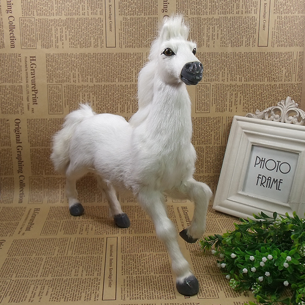big simulation horse toy polyethylene&furs white rise up legs horse model doll gift about 31x30x9cm 1965 new simulation white horse toy polyethylene