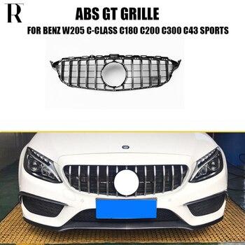 ABS GT الجبهة شبكة مصبع لبنز W205 C205 S205 C180 C200 C300 C43 مع AMG حزمة 15- 18 (لا ستار شعار ، لا c63)