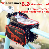 Bicycle Frame Front Head Top Tube Waterproof Bike Bag Double IPouch Cycling For 6 2 In