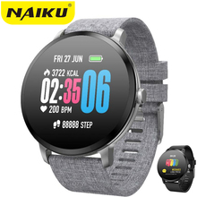 NAIKU V11 Smart watch IP67 waterproof Tempered glass Activity Fitness tracker Heart rate monitor BRIM Men women smartwatch