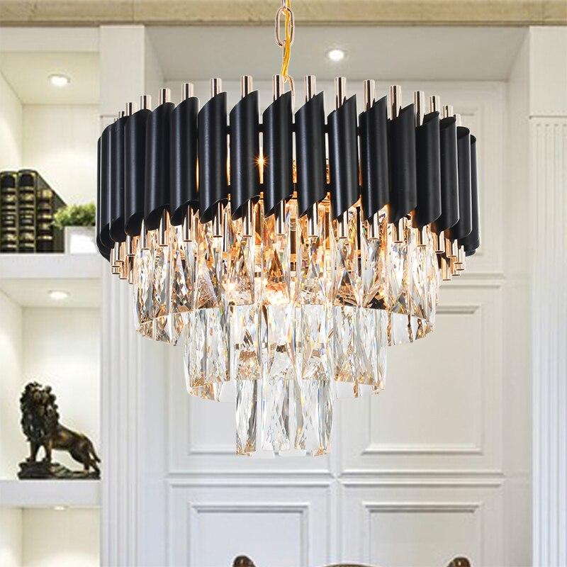 Boa Qualidade K9 Candelabro de Cristal de Suspensão de Iluminação Luminárias Hanging Lustre Restaurante Lâmpada De Cristal em Estilo Americano