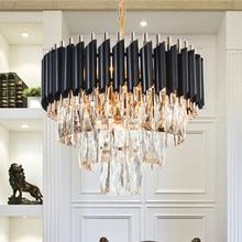 Хорошее качество K9 Хрустальная Люстра подвесная люстра, светильники висит блеск для ресторана с украшением в виде кристаллов Американский Стиль лампа