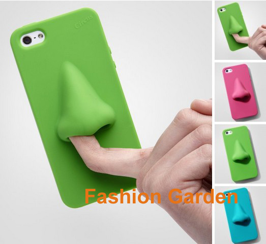 new product 3c627 8d5fa US $6.5 |Free Shipping HANA Nose Silicone Phone Pouch for iPhone 5G Cheap  Mobile Phone Case Cover 10 Colors Cell Phone Cover Case on Aliexpress.com |  ...