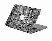 Black Cartoon Collection Laptop Decal Sticker Skin For MacBook Air Pro Retina 11 13 15 Vinyl