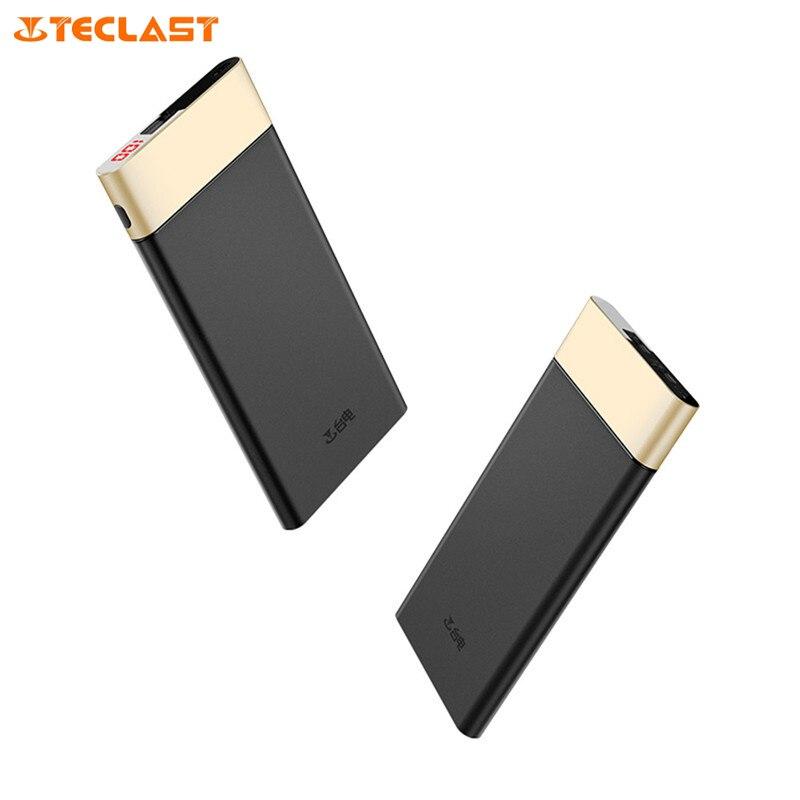 imágenes para Original teclast qc3.0 t100uc-g 10000 mah banco de potencia con pantalla led de alimentación mirco usb tipo c de entrada dual para iphone 5s 6s 7 plus