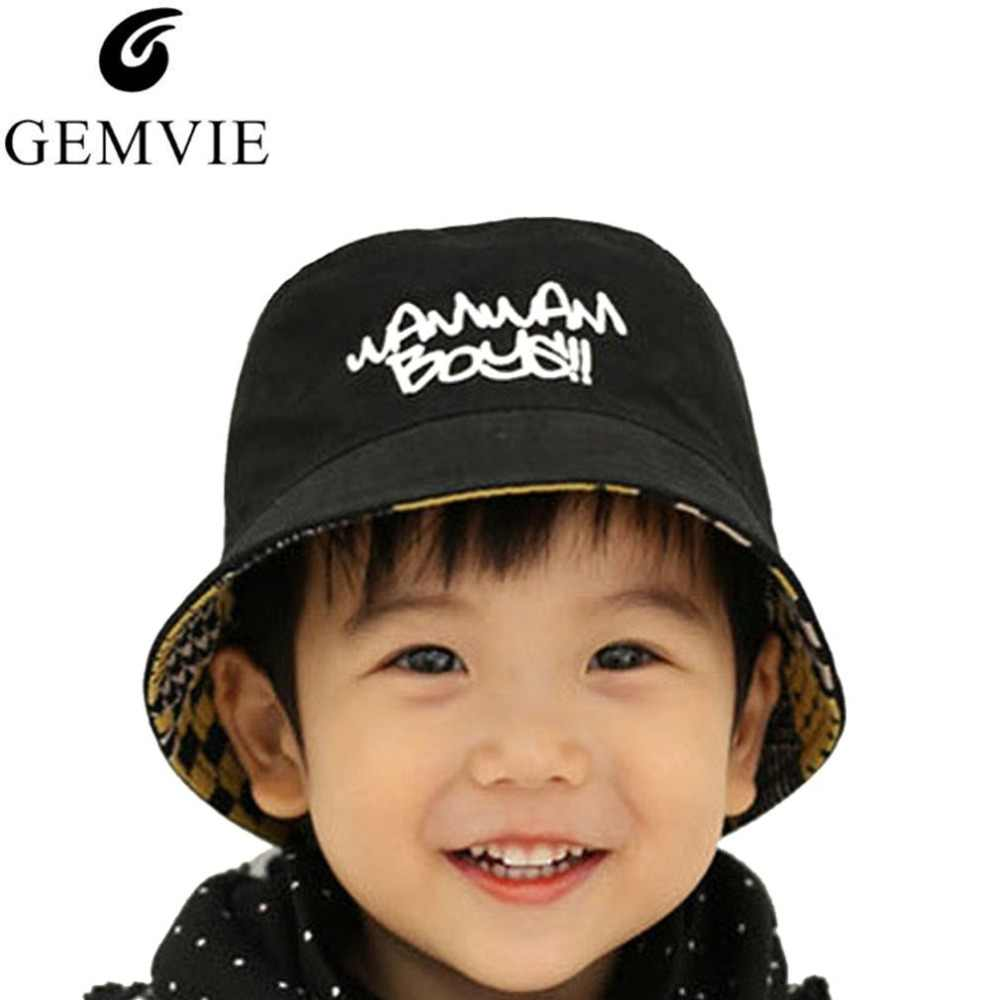 a809eb6360f Detail Feedback Questions about 2018 New Cotton Baby Summer Hat Kids Letter Cap  Sun Bucket Hats Double Sided Caps Flat Bucket Hat For Baby Girl Boy on ...