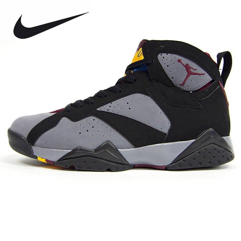 Nike Air Jordan 7 Бордо AJ7 Бордо Для женщин баскетбольной обуви кроссовки, Новое поступление Аутентичные нескользящая обувь 304774 034 ...