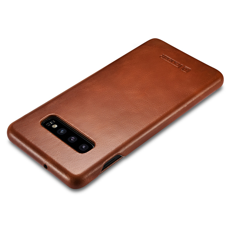 Image 3 - icarer Luxury Shell for Samsung Galaxy S10 Plus Flip Case Genuine Leather Magnetic Covers for Galaxy S10 Cell Phone Cases-in Flip Cases from Cellphones & Telecommunications