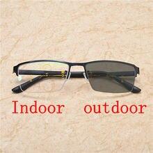 654202877b Transición gafas de sol fotocromáticos gafas de lectura hombres mujeres  presbicia con dioptrías gafas de lectura FML