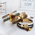 The New All-Match Never out of season Fashion Lovers Top grade leather Multilayer Bangles With pearls
