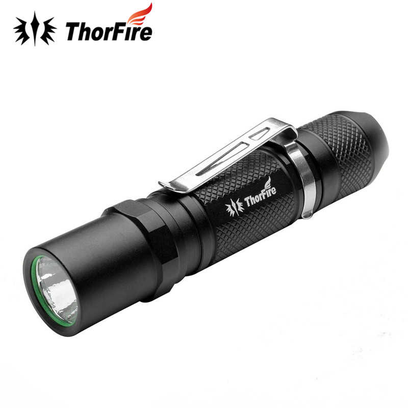 ThorFire TG06S 2-R5 Aluminum Alloy Tactical 500LM 3 Modes LED Flashlight 14500 AA Torch Light For Camping Fishing
