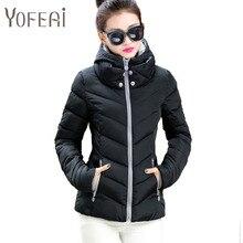 YOFEAI 2016 Women Jacket  Fashion Coats & Jackets Autumn Winter Cotton Short Outwear Parka Hooded jacket Padded Parkas Feminina