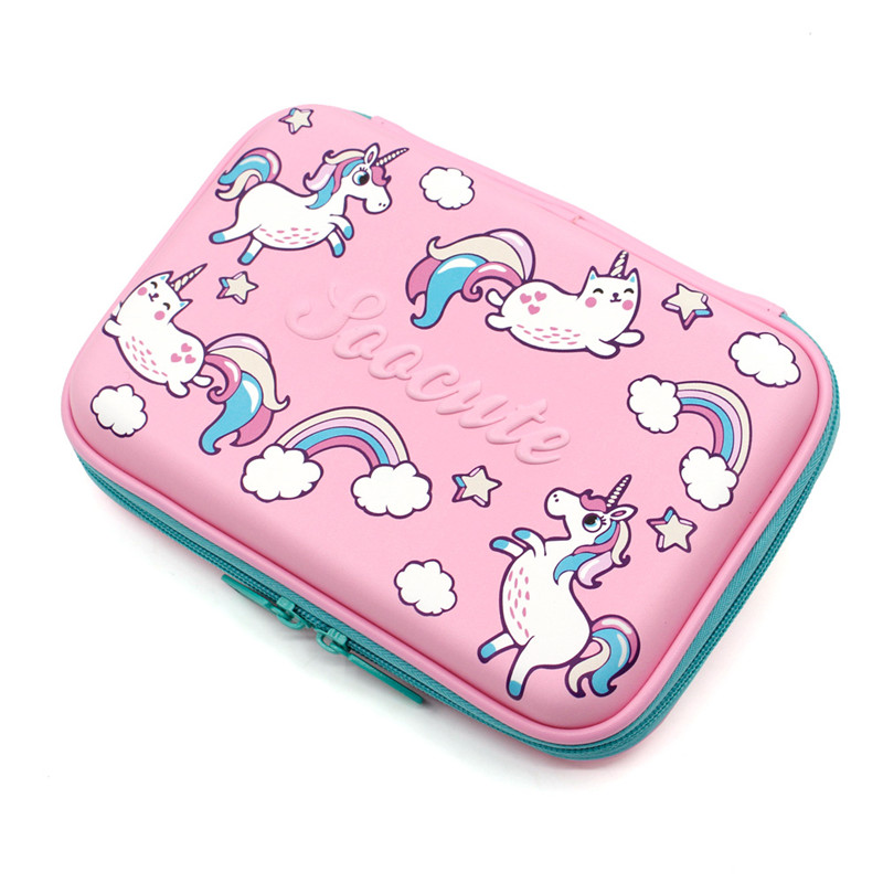 unicorn pencil case Kawaii kalem kutusu EVA trousse scolaire stylo Creative school supplies estojo escolar pencilcase pen case