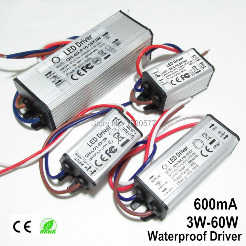 2pcs LED Fuente de alimentación 600mA Controlador de lámpara 3W 6W - Accesorios iluminación - foto 4